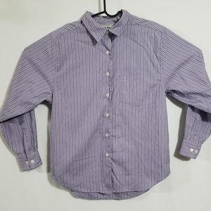 Vintage LL Bean Womens Sz 12 Button Up Large Shirt